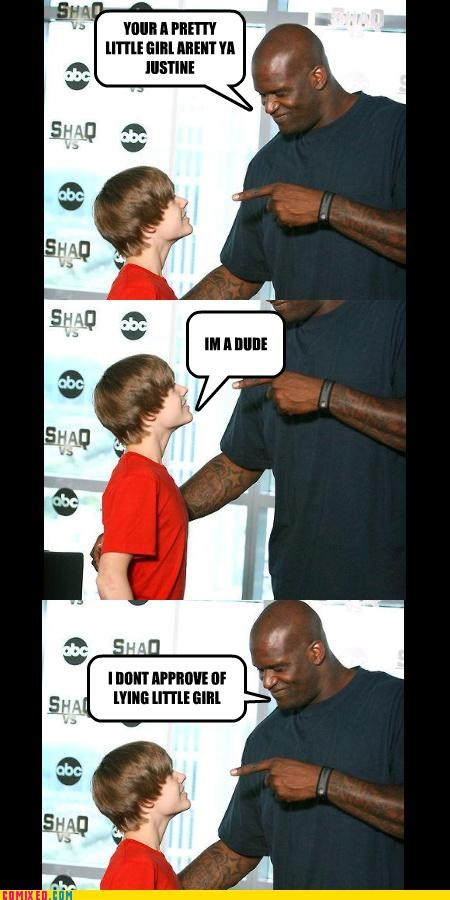 celebutard celebutards gender issues girls justin bieber Shaq Telling lt like it is - 3835611648
