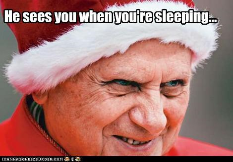 creepy,funny,Hall of Fame,holiday,lolz,Pope Benedict XVI,religion