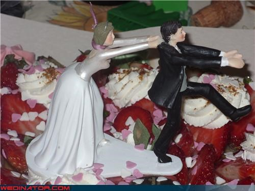 angry bride cake topper cake topper Crazy Brides Dreamcake funny cake topper funny wedding photos reluctant groom cake topper Wedding Themes wtf - 3837288192