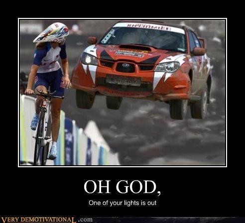 bike car oh god racing Terrifying yikes - 3837360128