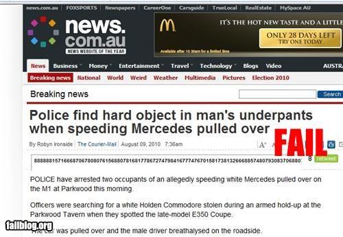 drive thru failboat McDonald's p33n pants police Probably bad News - 3841123072