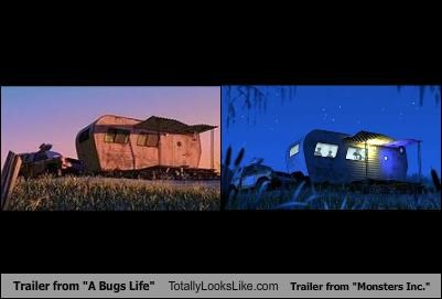 a bugs life,monsters inc,trailers