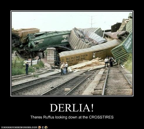 DERLIA! Theres Ruffus looking down at the CROSSTIRES