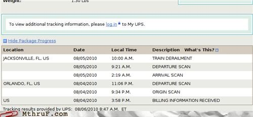 accident,derail,epic fail,FAIL,fedex,hardware,lol,mail,mess,package,PWND,Sad,screenshot,shipment,shipping,tragedy,train,UPS,usps