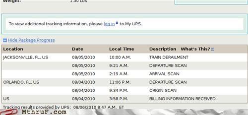 accident FAIL fedex hardware lol mail mess package PWND Sad screenshot shipment shipping tragedy train UPS usps - 3842609920