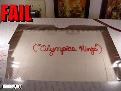 cake decorations failboat olympics words - 3843062272