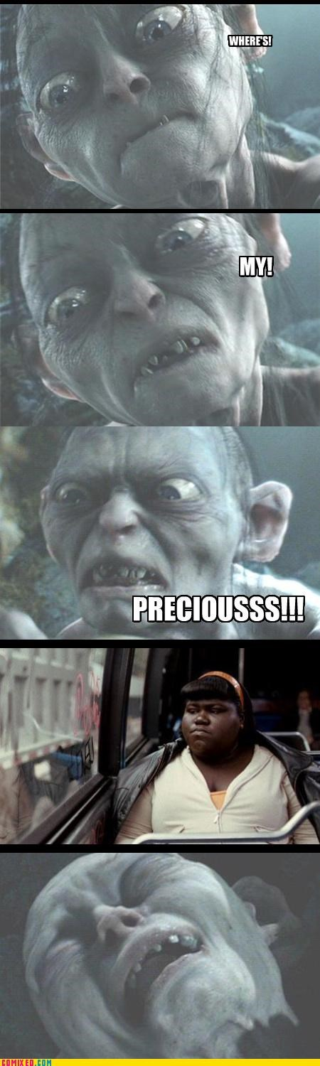 From the Movies,gollum,Lord of the Rings,Precious,puns,Sméagol