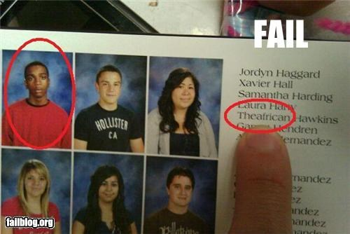 failboat,first name,name,yearbooks