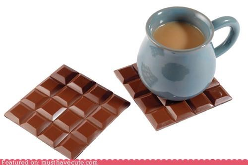 chocolate coasters,fake chocolate,Kitchen Gadget