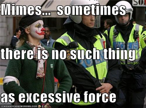 clowns,funny,lolz,mime,Protest,wtf