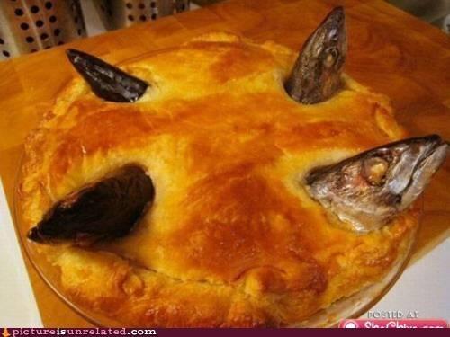 eww fish food gross pie wtf - 3845213184