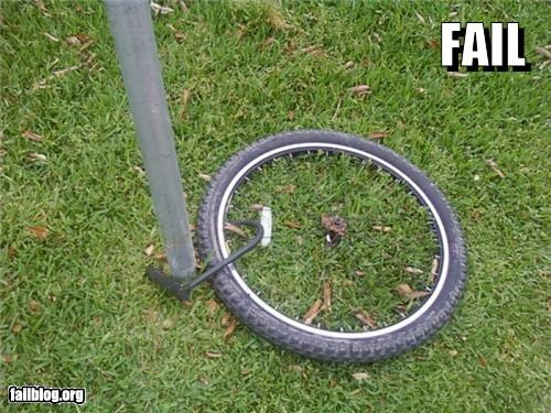 bike failboat lock this-is-whats-left wheels - 3845736192