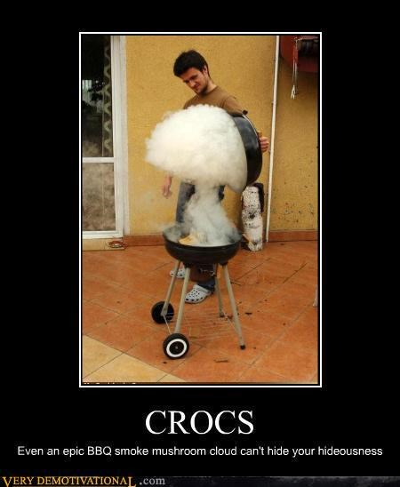 cooking crocs epic FAIL fashion idiots mushroom cloud Terrifying - 3846198528