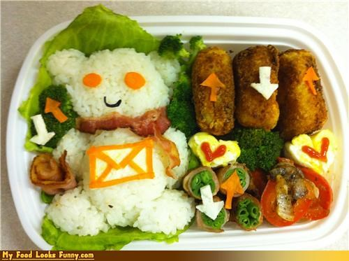 alien bento box broccoli downvote Reddit reddit alien rice social news sites sucking up to reddit upvote - 3846781696