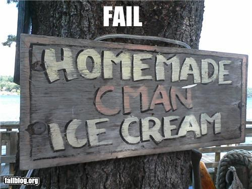 dessert failboat ice cream innuendo signs