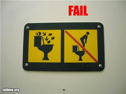 failboat instructions signs toilets wait what