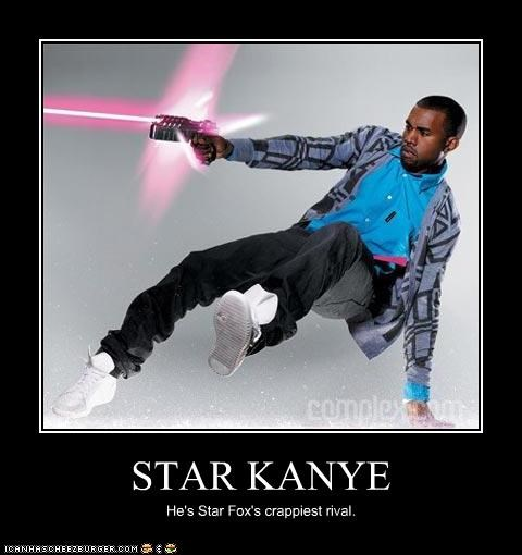 STAR KANYE He's Star Fox's crappiest rival.