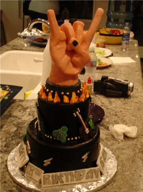 birthday,birthday cake,cake,hand,hand signs,rock,rock n roll,Sweet Treats,Vh1