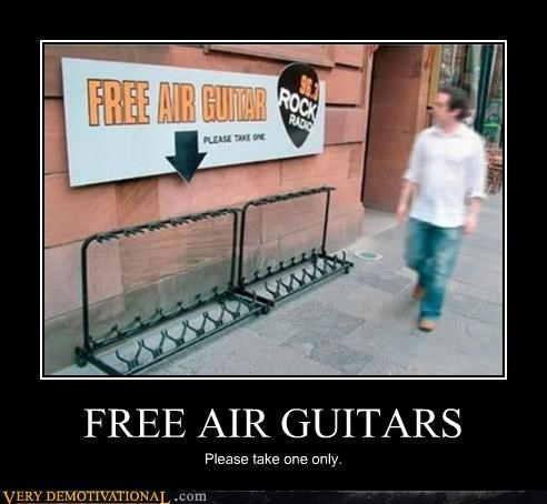 FREE AIR GUITARS Please take one only.