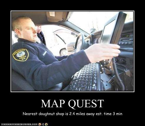 MAP QUEST Nearest doughnut shop is 2.4 miles away est. time 3 min