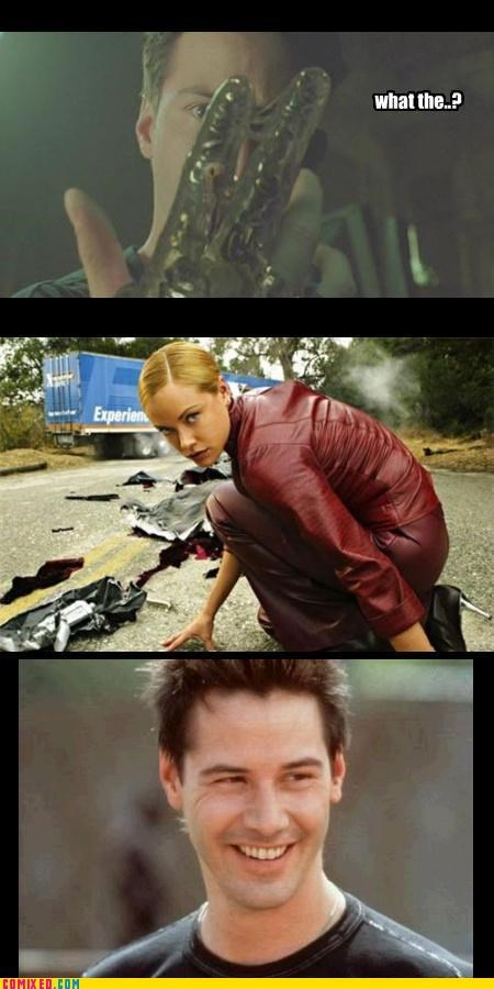 celebutard From the Movies happy keanu reeves natural Terminators uh-oh hole - 3848260096