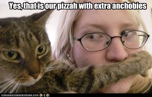 caption cat extra anchovies human pizza shush - 3848379392