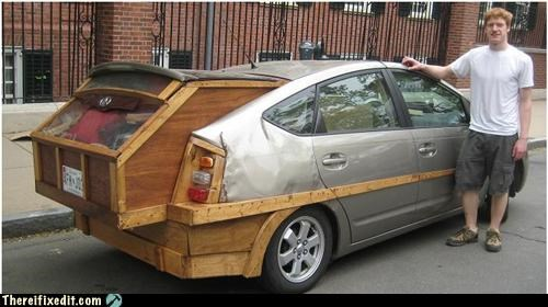 green improvement Kludge Prius recycling recycling-is-good-right wood
