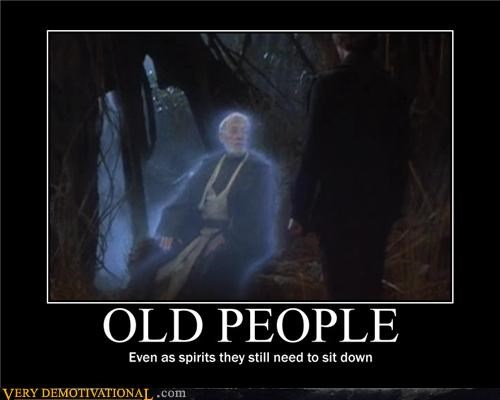 ghosts Obi won kenobi old people Sad spirits star wars the force - 3849569792