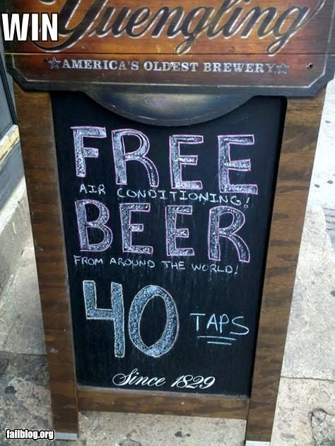 advertising beer failboat loop holes promotion sign small print win - 3849760768