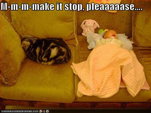 baby caption cat crying make it stop noise - 3850108672
