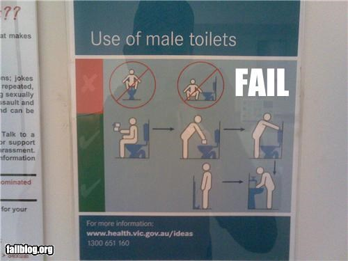 failboat gender bender g rated signs toilet - 3850386432