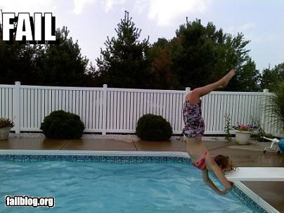 diving board failboat flips g rated ouch swimming pool - 3850460160