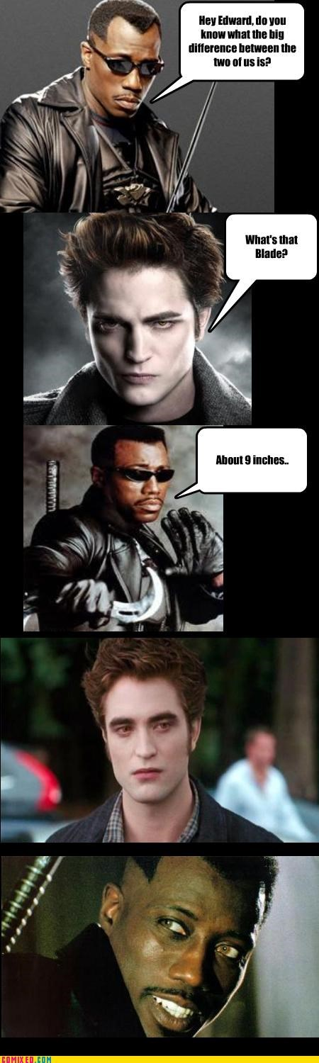 blade edward cullen From the Movies jokes twilight vampires - 3851536384
