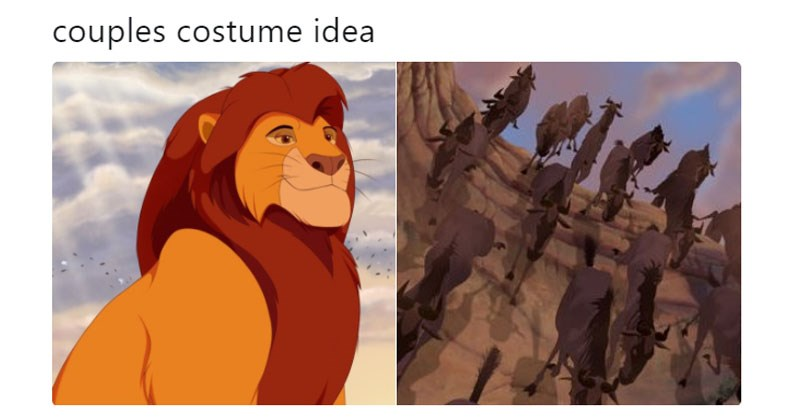 Funny Twitter memes about Disney, the office, Lord of the Rings, hillary clinton, donald trump, the lion king, potatoes, music.