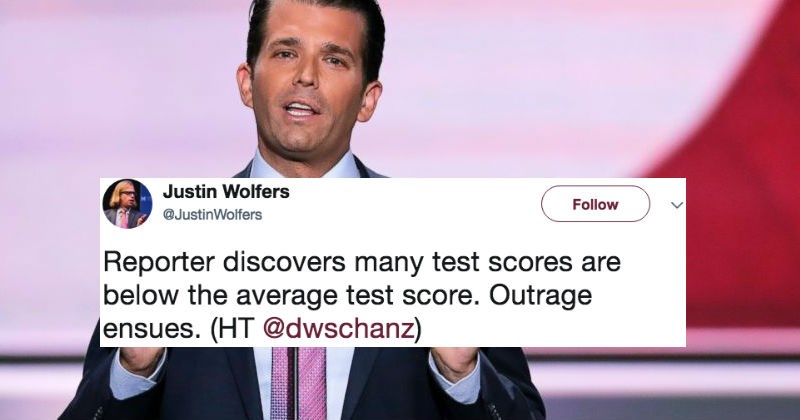 Donald Trump Jr. brags about his math skills and has hilarious fail in the process.