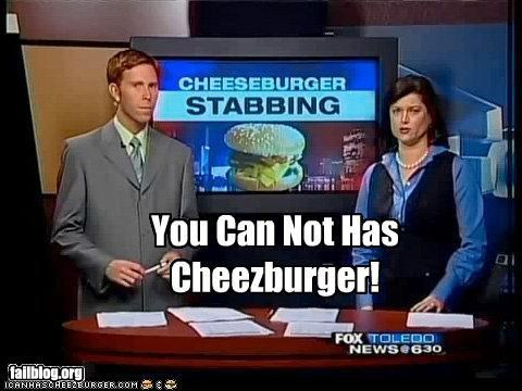 cheezburger failboat icanhascheezburger news stabbing violence - 3853275648