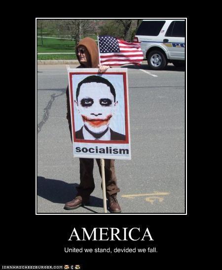 AMERICA United we stand, devided we fall.