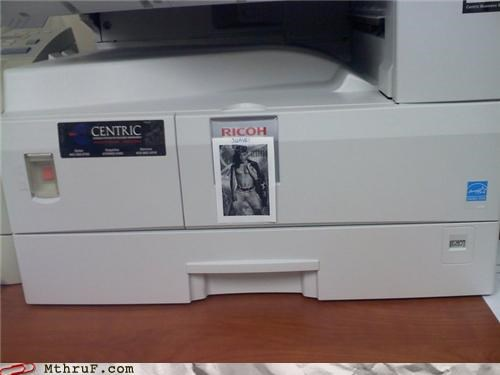 awesome awesome co-workers not Awkward boredom clever creativity in the workplace cubicle boredom decoration depressing hardware laser printer paper signs PC LOAD LETTER printer rico ricoh sexual harassment suavé wiseass work smarter not harder - 3854431232
