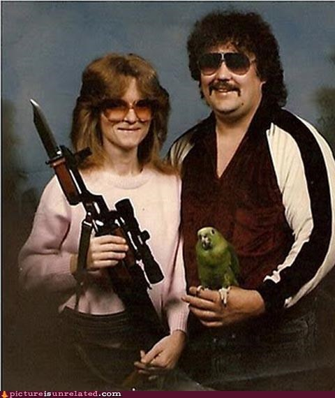 dangerous,family photo,knife,rifle,sunglasses,wtf