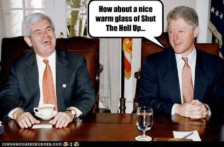 bill clinton funny lolz newt gingrich - 3854725888