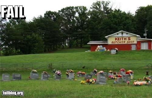 Awkward butcher shops cemetery failboat - 3854887936
