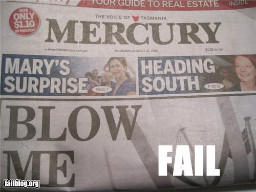 Fail Headlines Read the headlines Left, then Right, Then the Bottom. Fail.