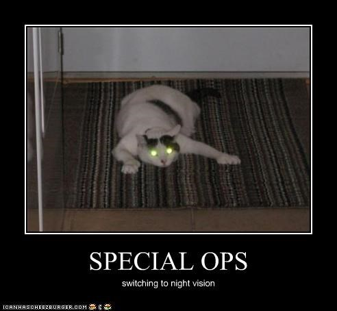 SPECIAL OPS switching to night vision