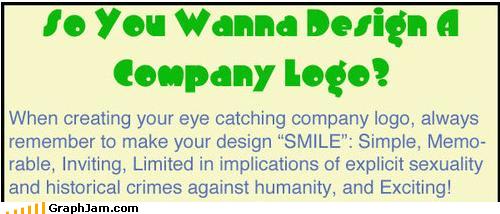 design FAIL infographic innuendo logo sexy times