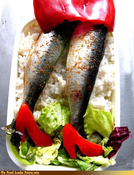 fish fish legs legs lettuce peppers pumps rice sardine legs sardines smelly - 3856653568