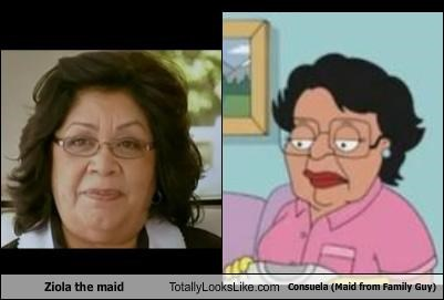 Ziola the maid Totally Looks Like Consuela (Maid from Family Guy)