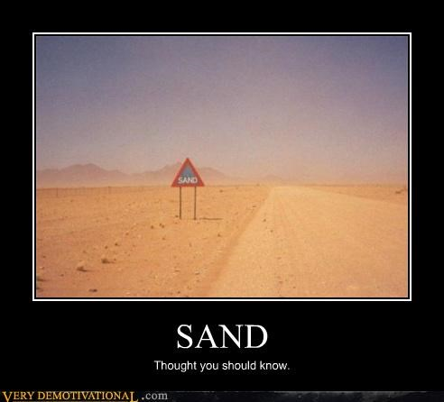 SAND Thought you should know.