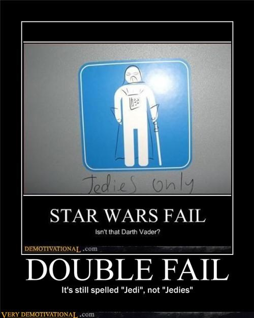 double FAIL spelling Jedi