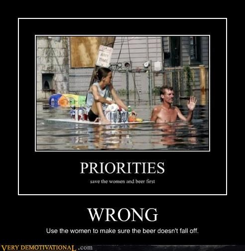 beer,woman,priorities