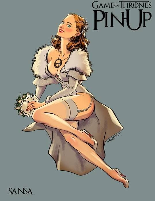 the women of GOT as pin-up girls